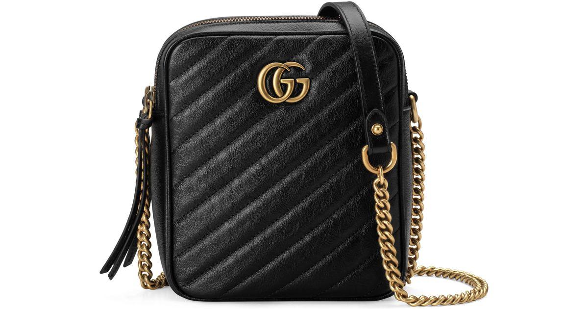 606e602cbb Gucci GG Marmont Mini Shoulder Bag in Black - Save 19% - Lyst