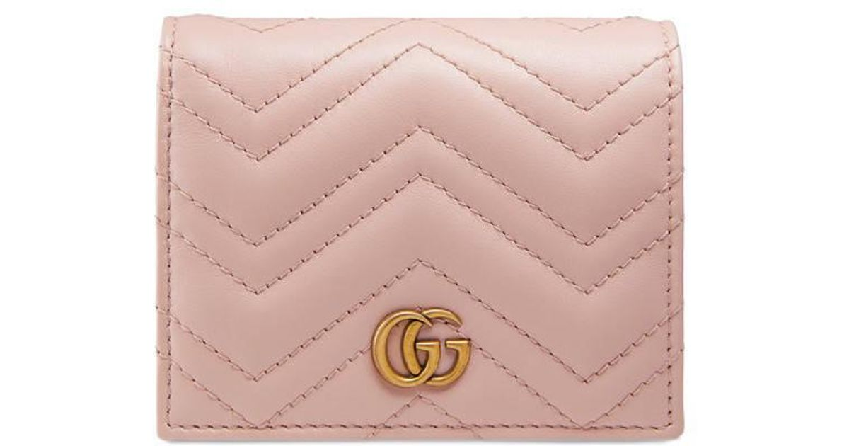 31d200bbd84fa5 Gucci GG Marmont Card Case in Pink - Save 11% - Lyst