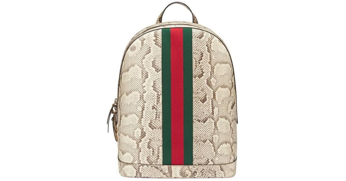 db90754cf32 Lyst - Gucci Web Animalier Python Backpack for Men