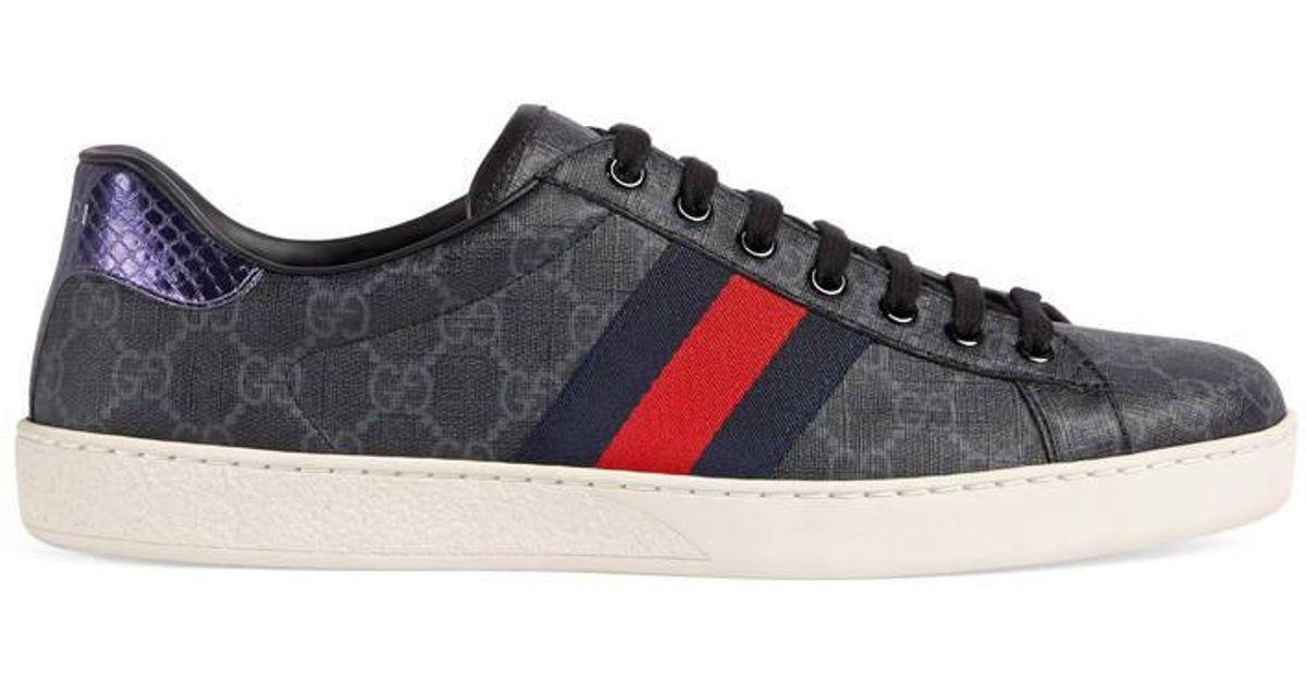 fa10f4d94 Gucci Ace GG Supreme Sneaker in Blue for Men - Save 2% - Lyst