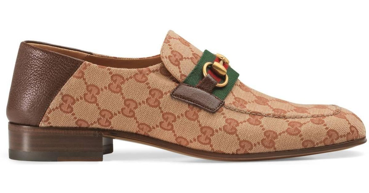 321f25f314a Lyst - Gucci Gg Canvas Horsebit Loafer Blue in Blue for Men