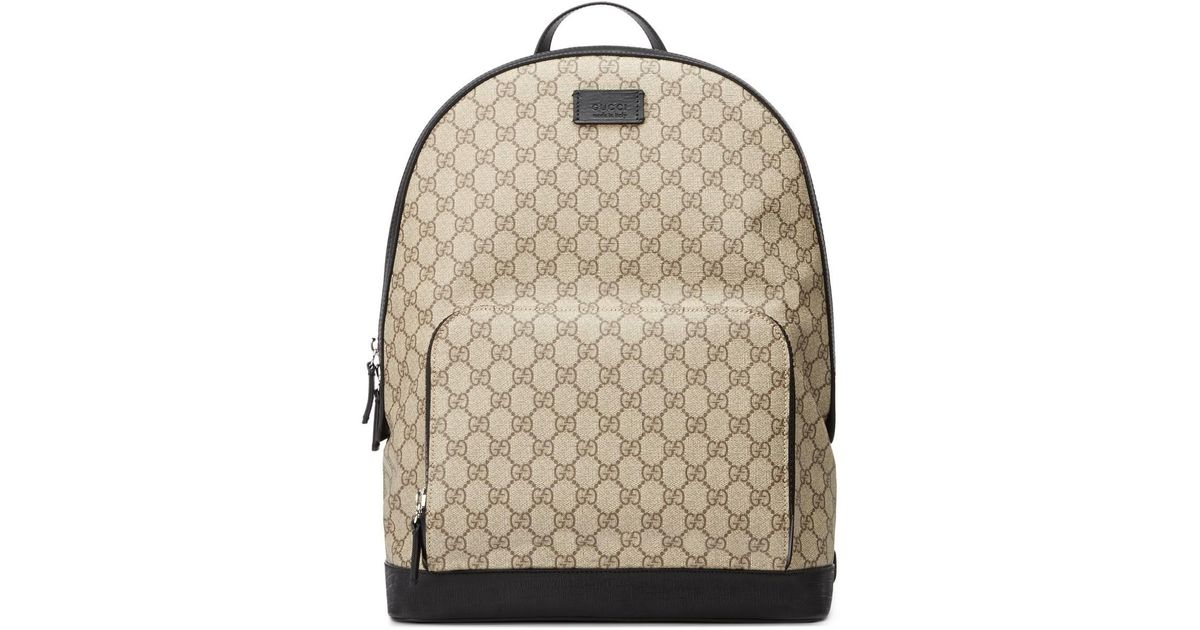 8bf27aa0115 Lyst - Gucci GG Supreme Backpack in Natural