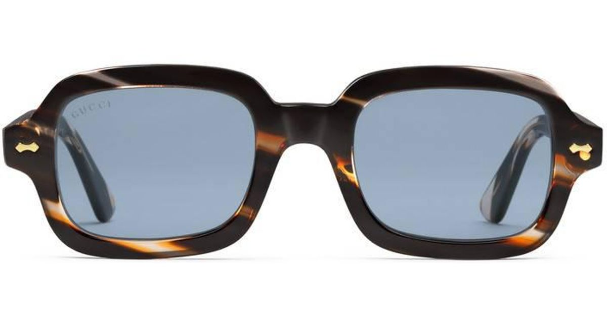 cde51779b2 Gucci Rectangular-frame Acetate Glasses for Men - Lyst