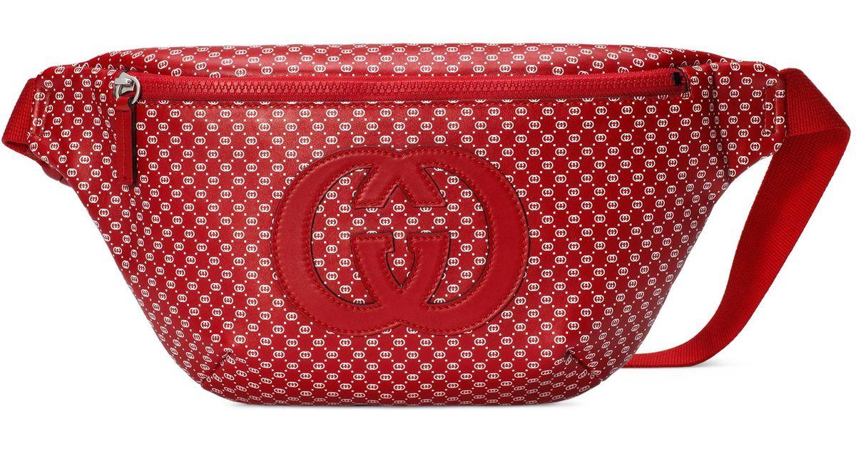 51cbc14df45 Gucci dapper dan belt bag in red for men lyst jpg 1200x630 Red gucci belt  bag