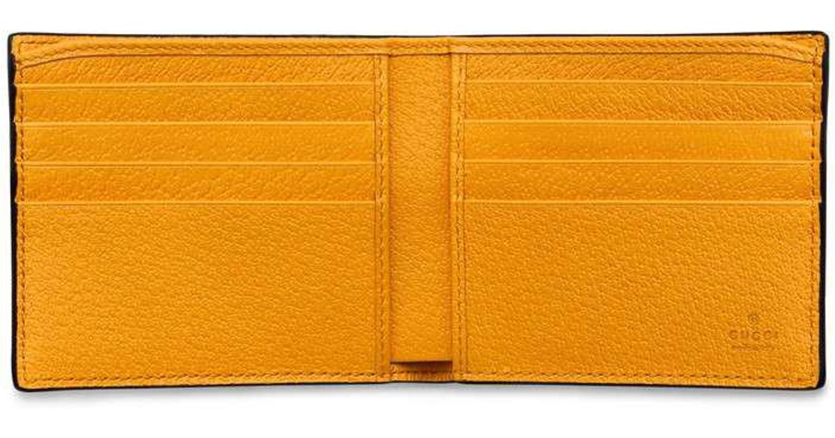 8d633e193474 Gucci Neo Vintage Gg Supreme Wallet in Yellow for Men - Lyst