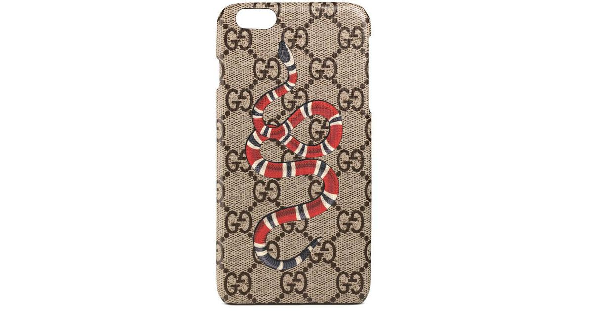 sports shoes 461a7 8f70a Gucci - Natural Kingsnake Print Iphone 6 Plus Case - Lyst