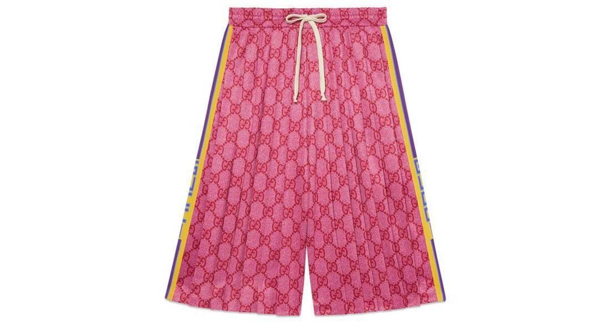 da9dd05e Gucci - Multicolor - GG Technical Jersey Shorts - Lyst