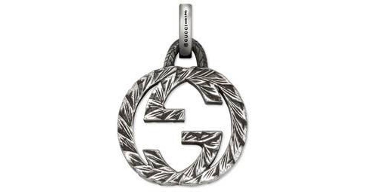 Gucci Interlocking G charm in silver HcnrmMIdX