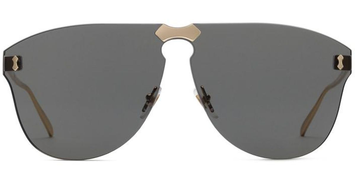 94e90c84bec Gucci Aviator Rimless Sunglasses in Gray for Men - Lyst