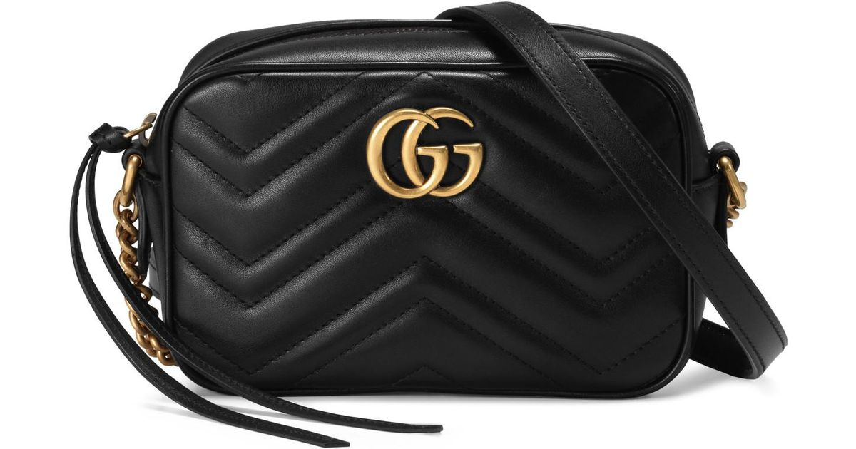 3c4f71c07 Lyst - Gucci Gg Marmont Matelassé Mini Bag in Black