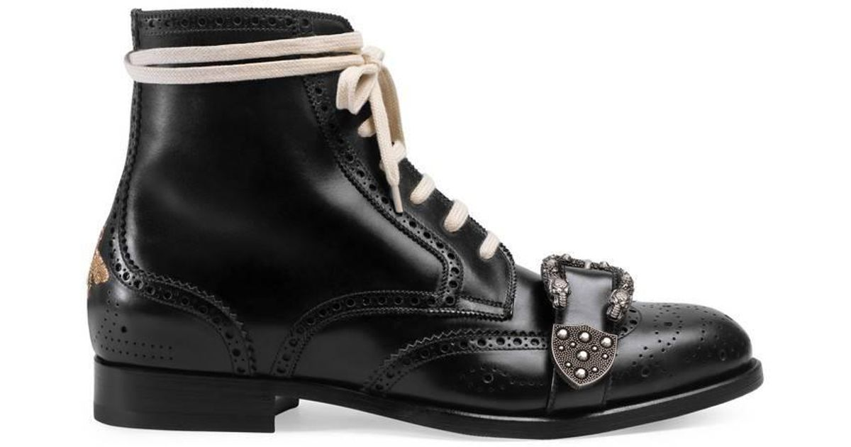 b7214adc277 Lyst - Gucci Queercore Brogue Boot for Men