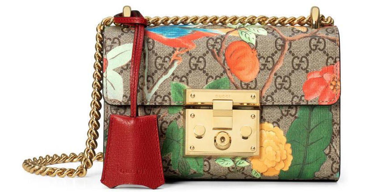 3b94669a722 Lyst - Gucci Tian Padlock Shoulder Bag