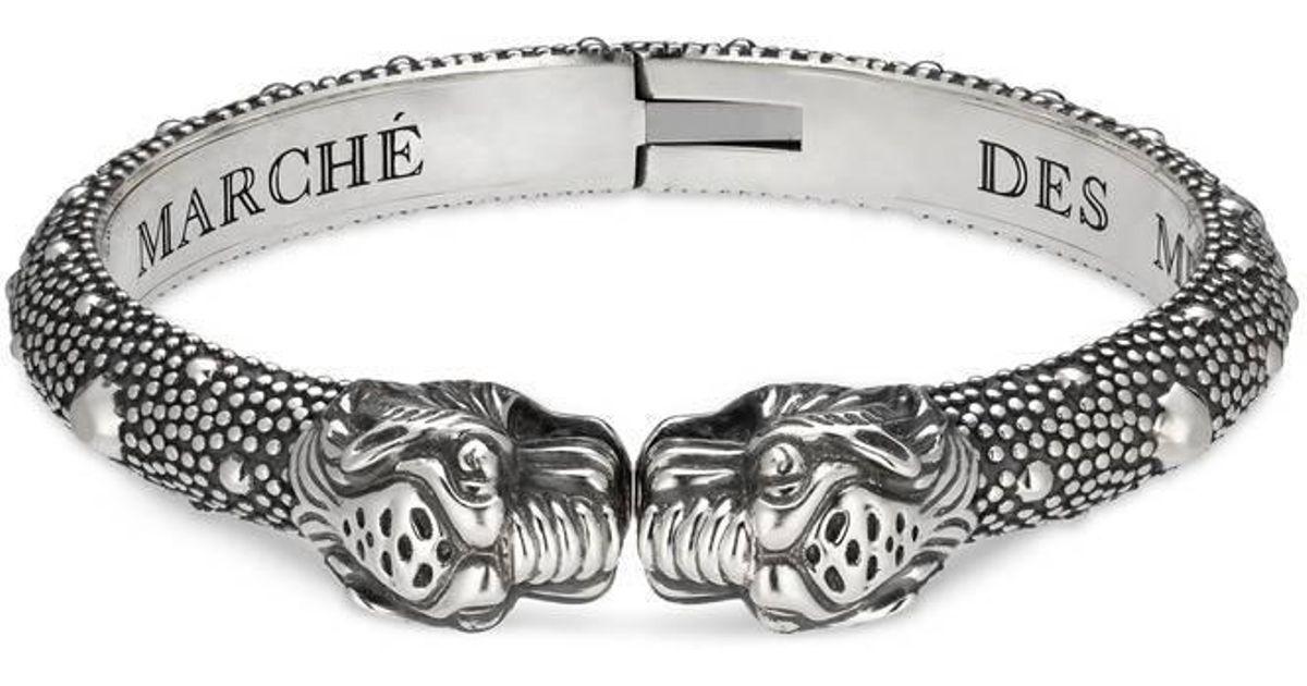 2699948be Gucci Tiger Head Bracelet in Metallic for Men - Lyst