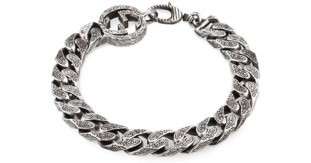 d21eb1a5ab5f Lyst - Gucci Interlocking G Chain Bracelet In Silver in Metallic for Men