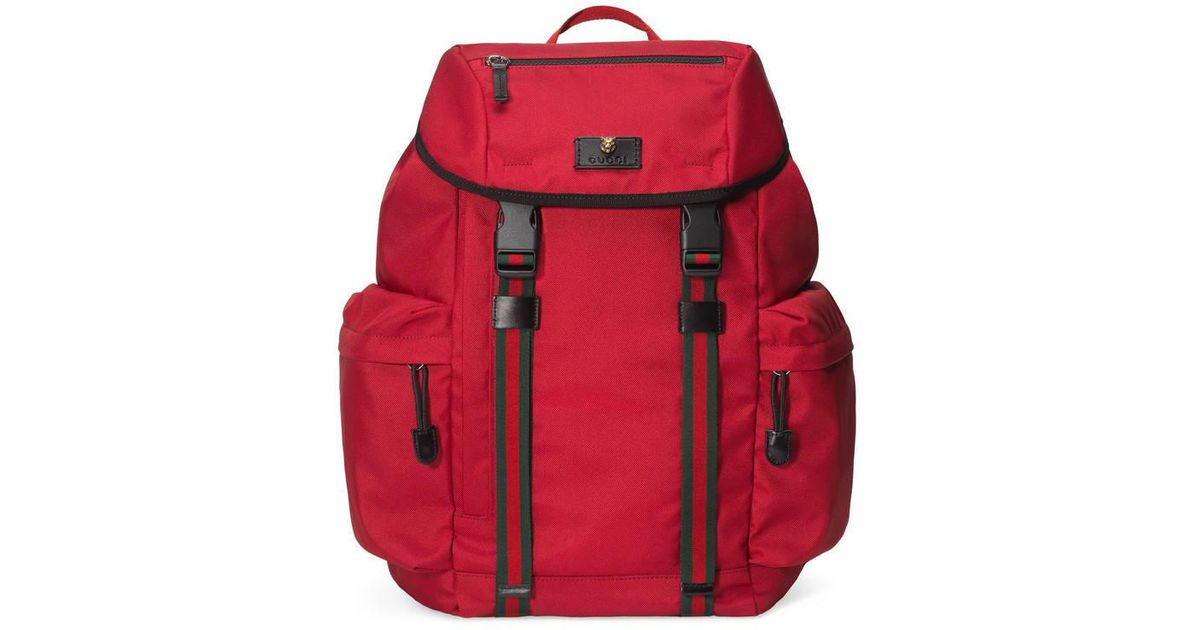 dfed4a054a97 Lyst - Gucci Techno Canvas Techpack in Red for Men