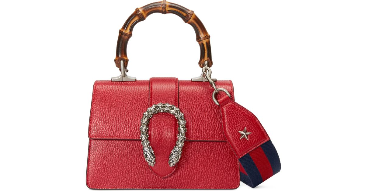 d276eb4ee839 Gucci Dionysus Mini Top Handle Bag in Red - Lyst