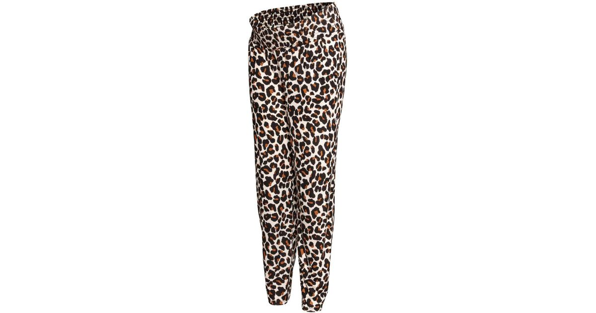 Lyst HM Mama Patterned Joggers In Black Amazing Patterned Joggers