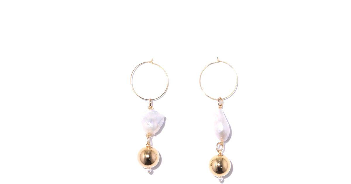 Mounser Metallic Pagoda Fruit Mini Earrings In Gold Lyst