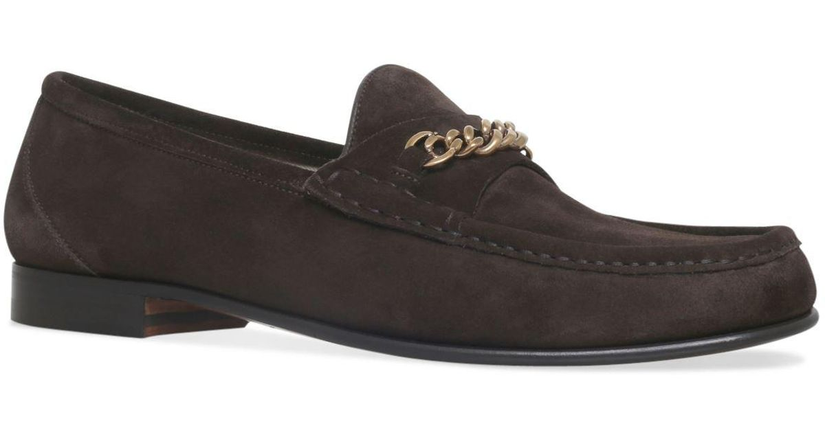 08cebb7cf4b1a Tom Ford Suede York Chain Loafers in Brown for Men - Lyst