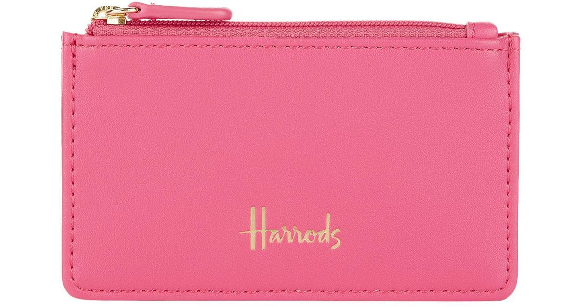 17dab3deaa53 Lyst - Harrods Compton Card Holder in Pink