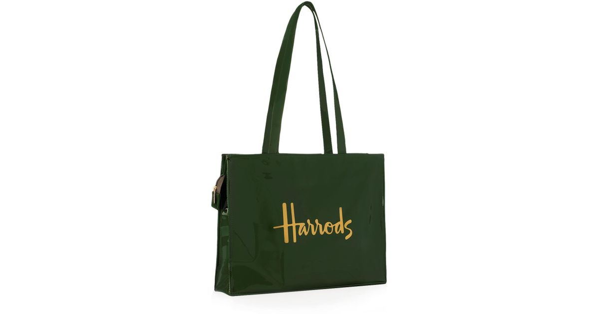 4d63acfbfb Harrods Signature Logo Tote Bag in Green - Save 14% - Lyst