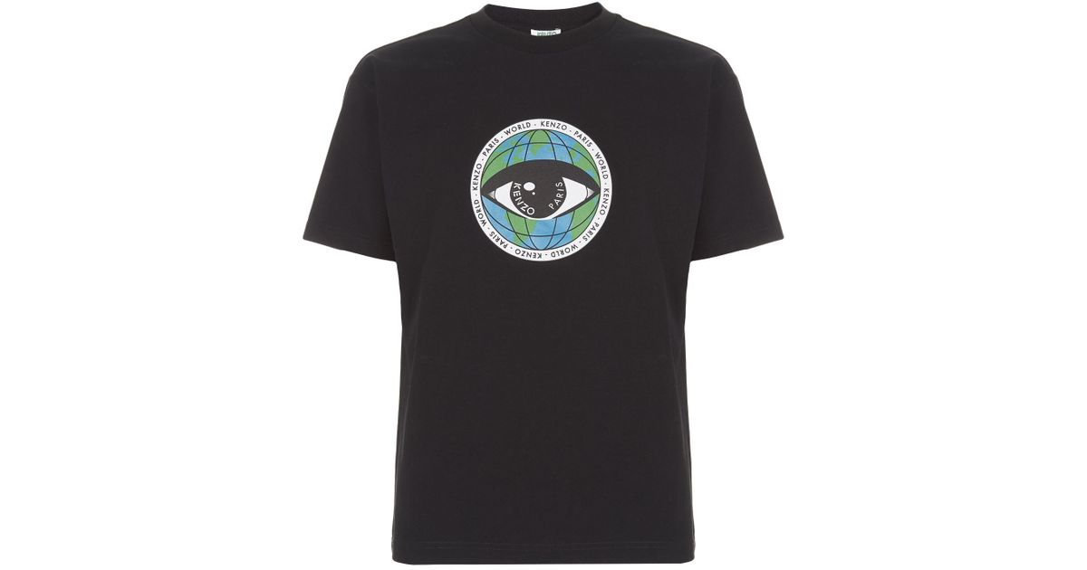 5c97893e2ff KENZO Eye Icon T-shirt in Black for Men - Lyst