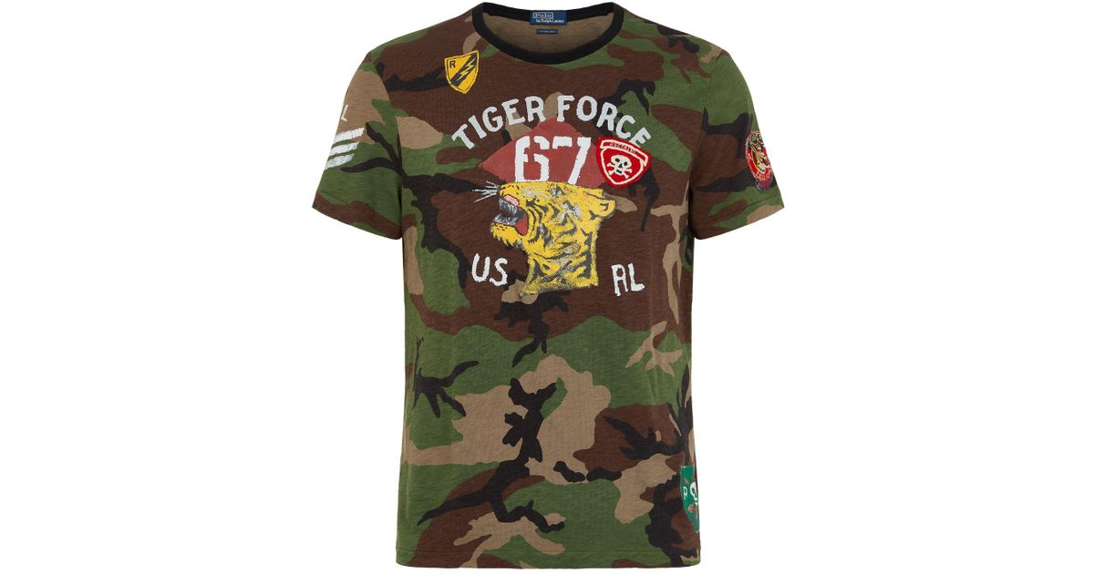 c2010c49 Polo Ralph Lauren Camouflage Tiger T Shirt In Green For Men Lyst
