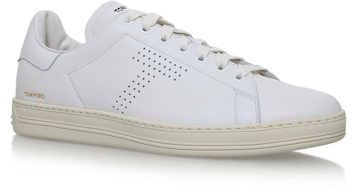 lyst - tom ford warwick leather sneakers in white for men