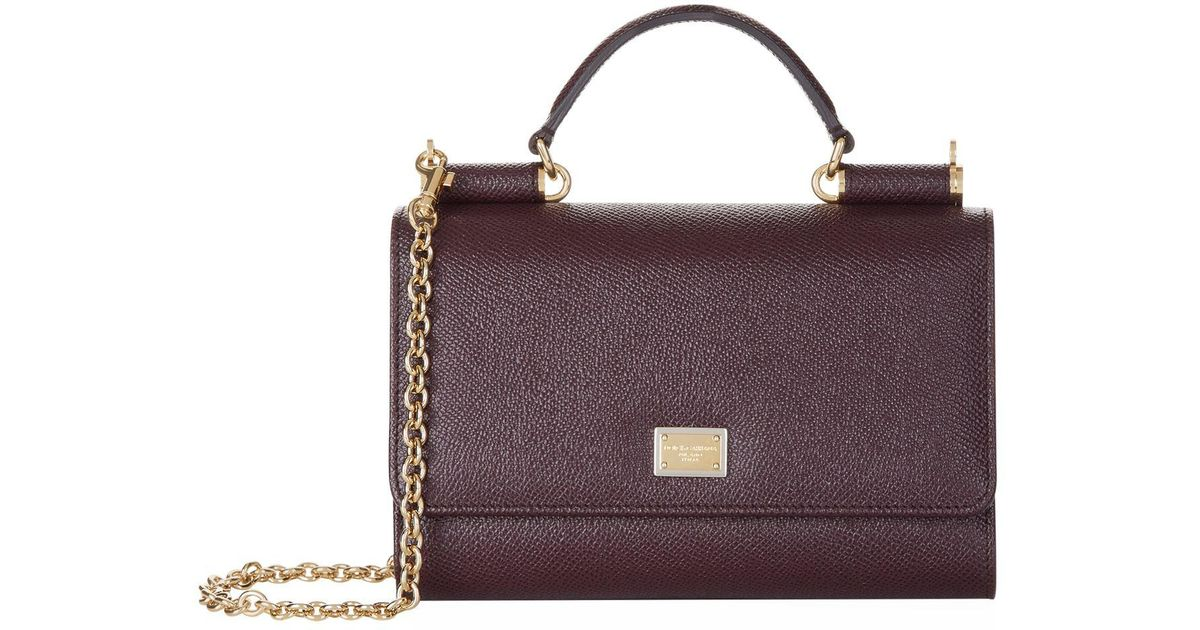 c029a32f503f Lyst - Dolce   Gabbana Dauphine Gloss Phone Bag in Purple