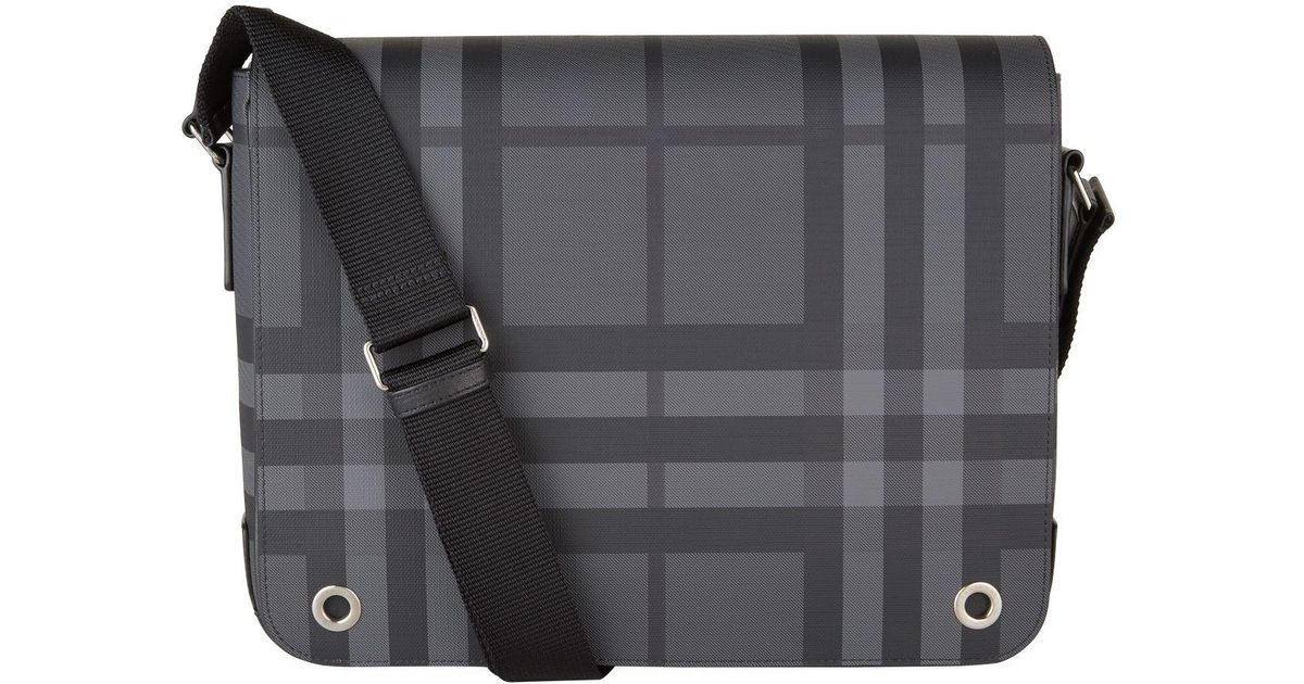 80e62399374 Burberry Small London Check Satchel in Gray for Men - Lyst