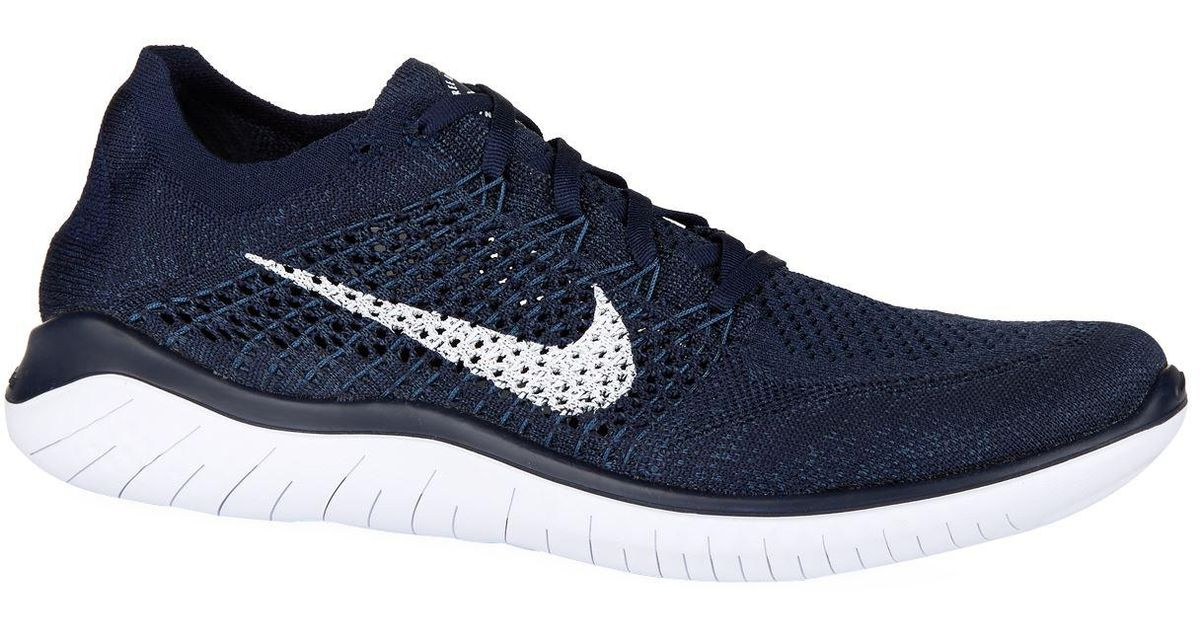 0cdf69466a802 AlternateText Nike Free Rn Flyknit Trainers in Blue for Men - Lyst ...