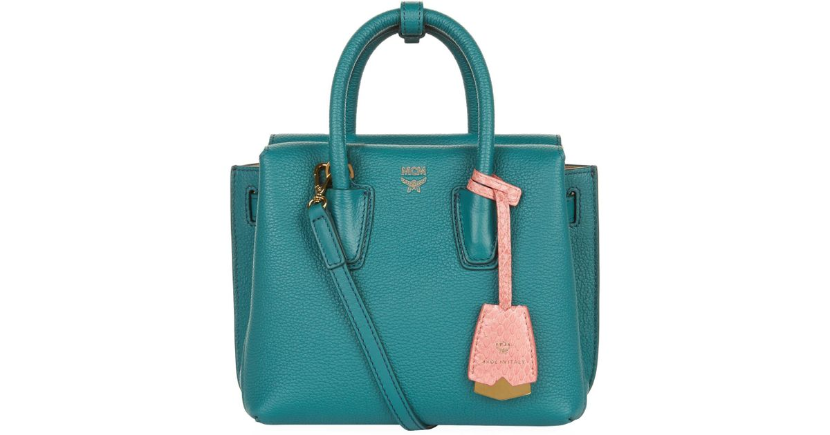 9de9d7adf MCM Mini Milla Tote Bag in Green - Lyst