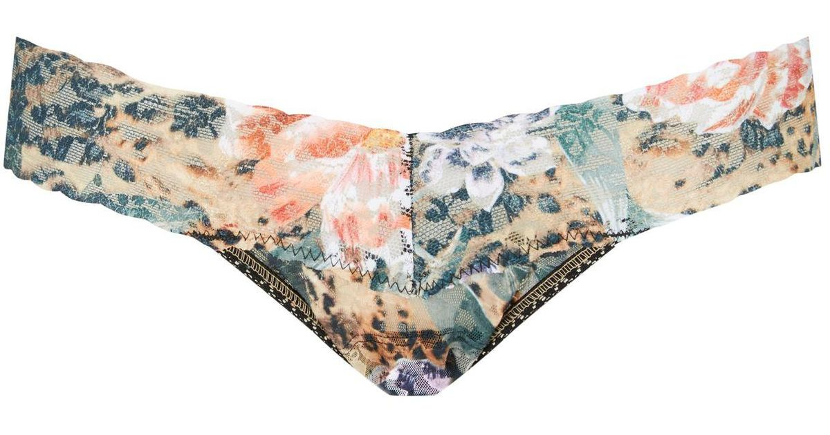 4d656b473f7b Lyst - Hanky Panky Floral Low-rise Thong