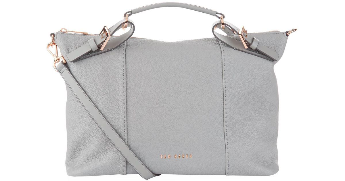 8c65fe51c5 Ted Baker Salbee Leather Tote Bag in Gray - Lyst