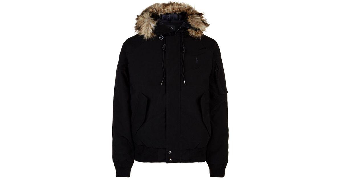 Polo Ralph Lauren Hooded Puffer Jacket in Black for Men - Lyst 4d90fe068cc