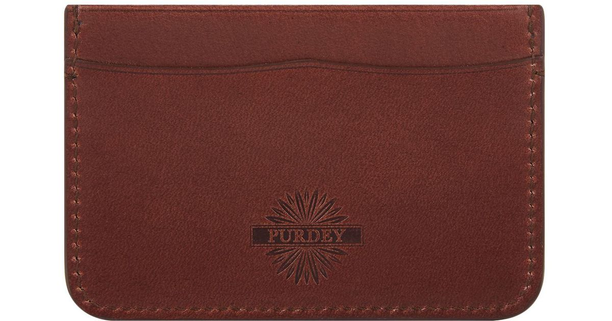 Card Holder Lyst Brown In James For Purdey amp; Men Leather Sons Cx6Fpwq