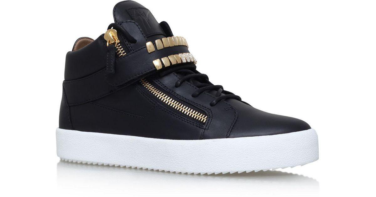Lyst - Giuseppe Zanotti Gold Teeth High-top Sneakers in Black for Men f89d5ba7e