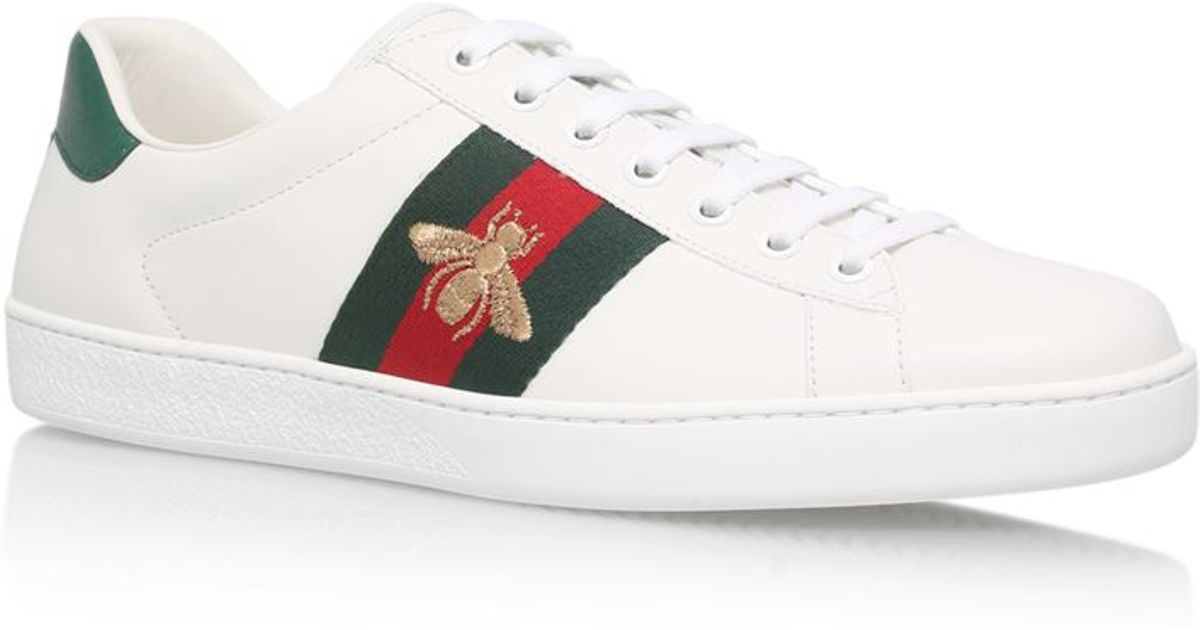 Leather work gloves best - Gucci Ace Embroidered Low Top Sneaker In White Save 24 Lyst