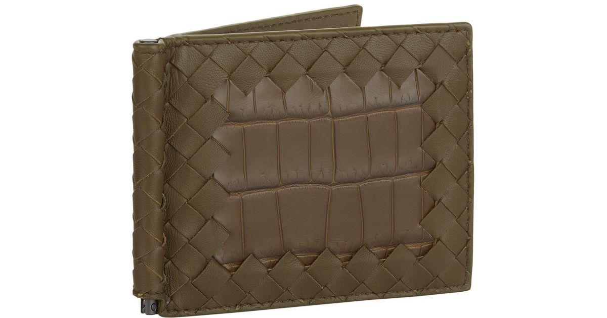 d29cfbc0fa8c Lyst Bottega Vea Intrecciato Croc Print Money Clip Wallet In. Smythson Mara Croc  Embossed Leather ...