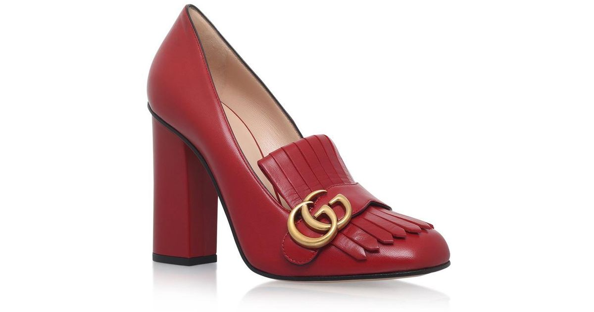 6d5df5b1fbe Gucci Marmont Pumps 105 in Red - Lyst