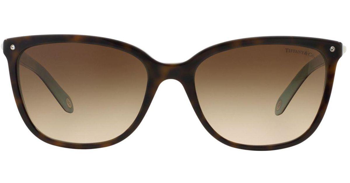 6aad09aef469 Lyst - Tiffany   Co. Aria Concerto Square Sunglasses in Brown