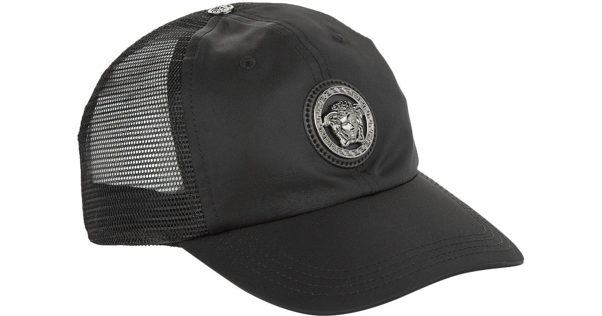 d50110de94b Versace Medusa Logo Baseball Cap in Black for Men - Lyst