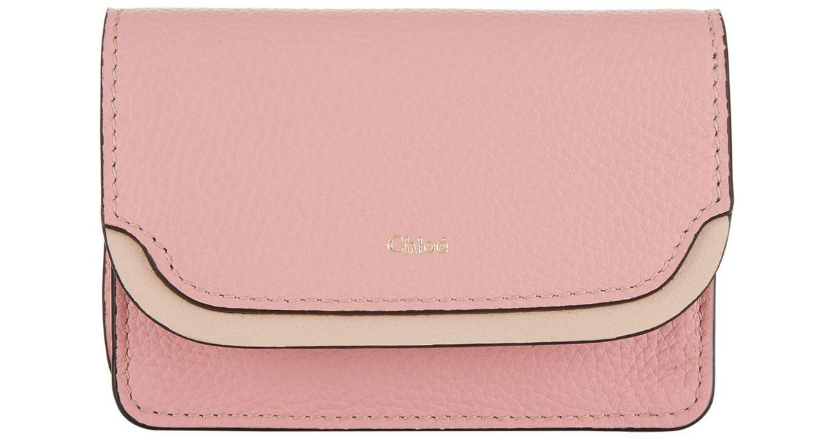 Lyst - Chloé Easy Business Card Holder in Brown