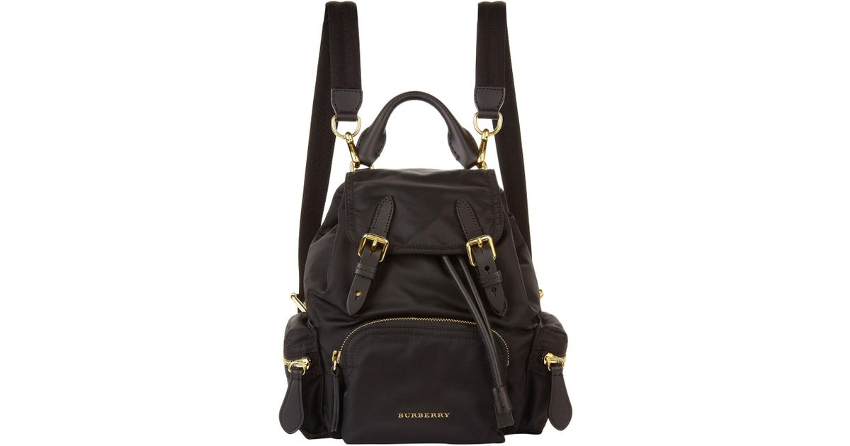 16f3fa24837d Lyst - Burberry Small Buckled Rucksack in Black