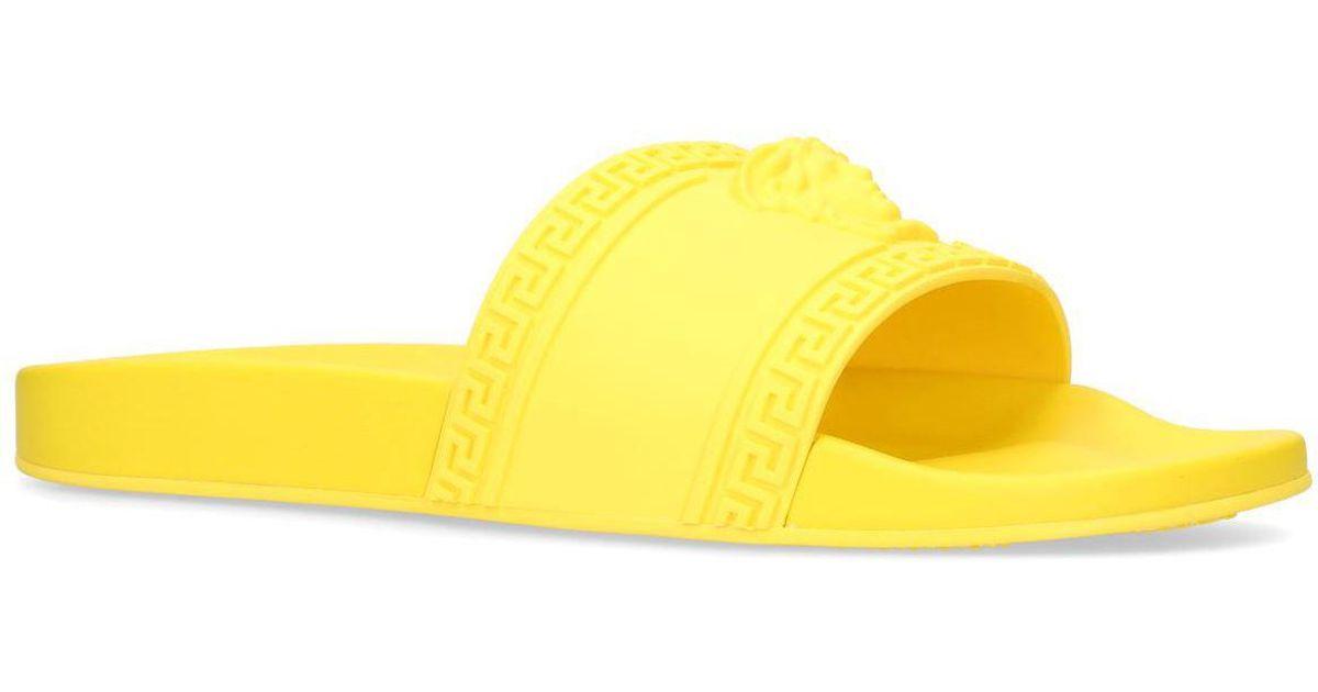 bfdb61c2f yellow slides. versace yellow medusa ...