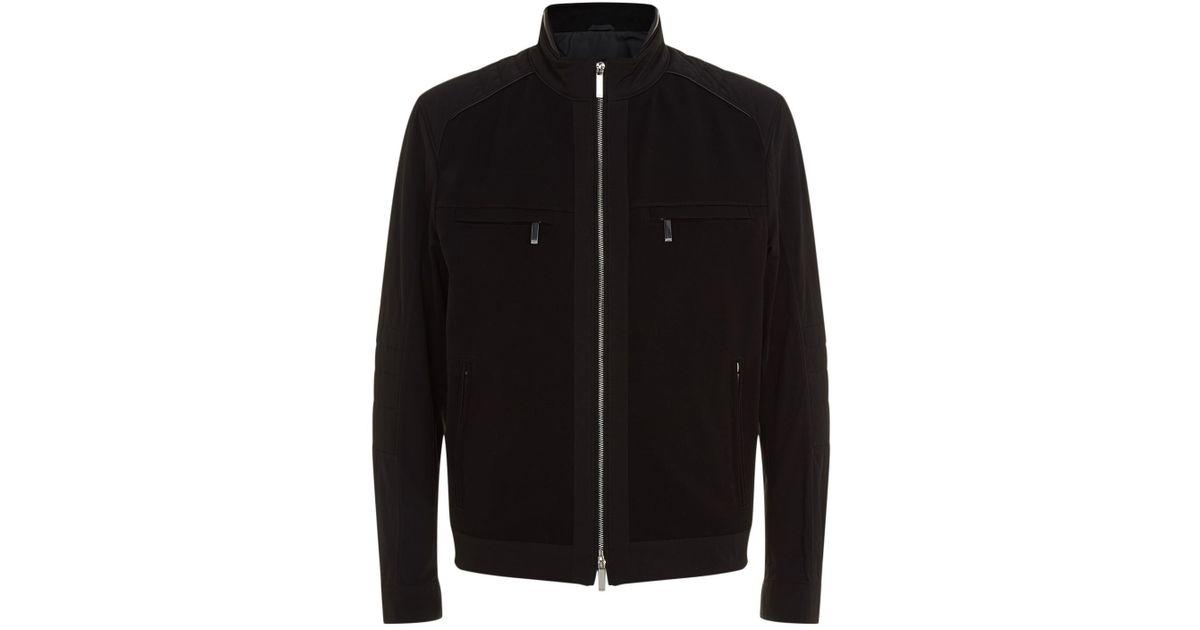 Mercedes Benz Jacket >> Boss Mercedes Benz Bomber Jacket In Black For Men Lyst