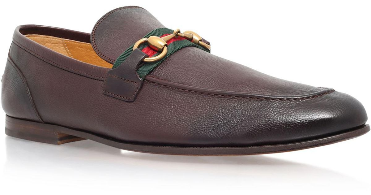 dbaa054bf71 Lyst - Gucci Elanor Horsebit Leather Loafer in Brown for Men