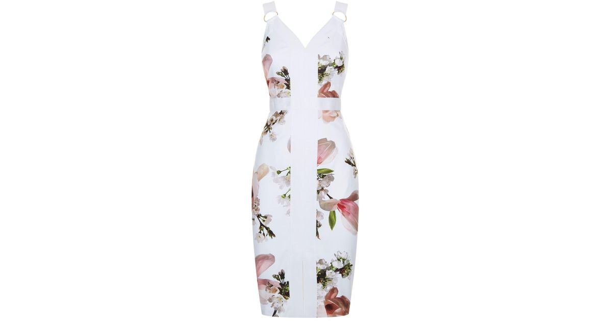 4eb705768 Lyst - Ted Baker Irasela Harmony Bodycon Dress in White