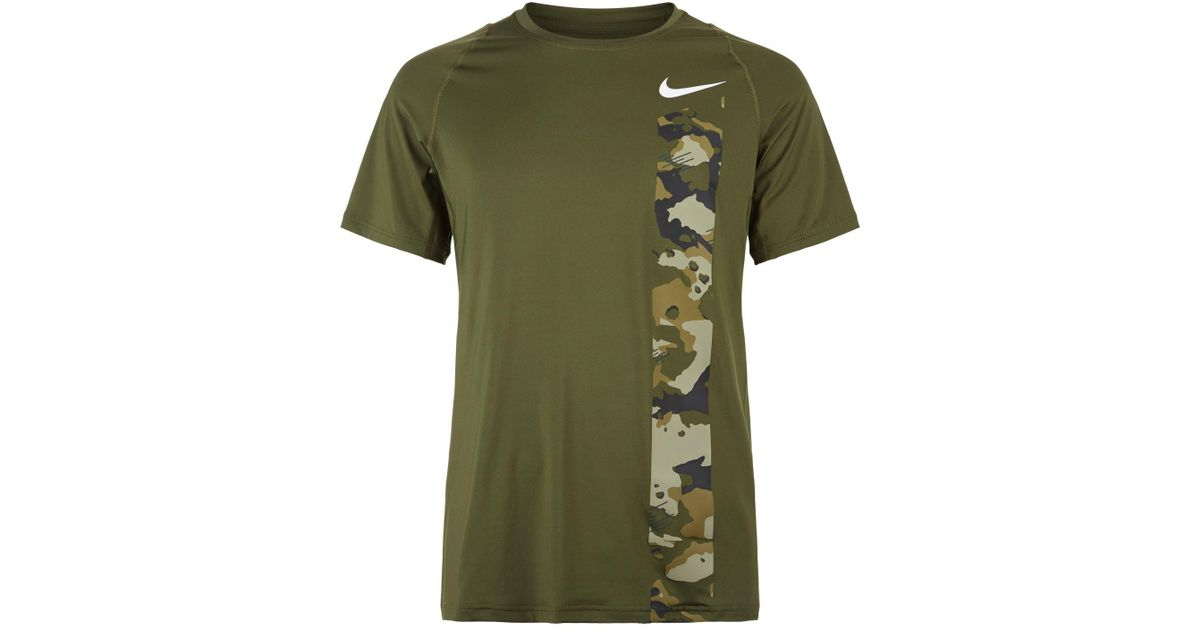 c65cb306 Nike Pro Camo T-shirt in Green for Men - Lyst
