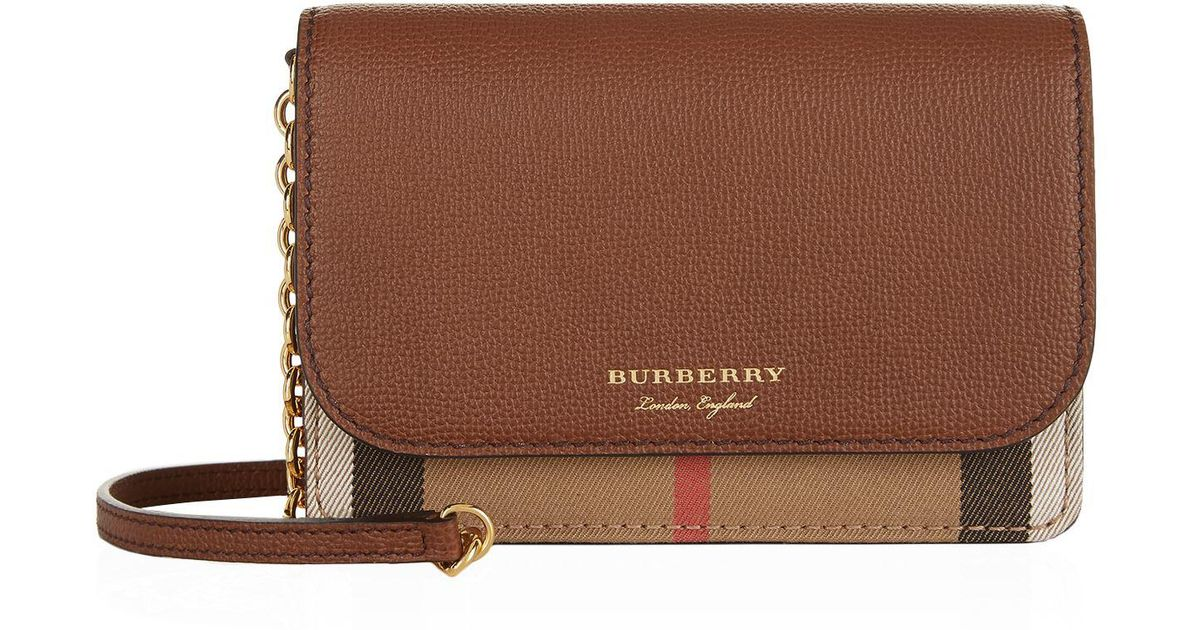 65595341ac9e Burberry Hampshire Cross Body Bag in Brown - Save 2% - Lyst